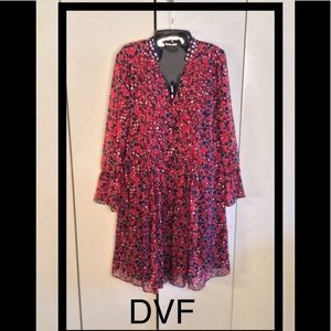 DVF- Chiiffon Printed Dress